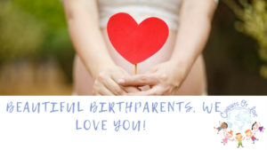 beautiful birthparents, we love you! blog article