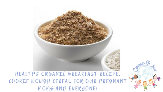 healthy organic breakfast recipe cookie dough cereal for
