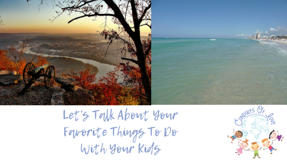 Let's Talk About Your Favorite Things To Do With Your Kids blog post
