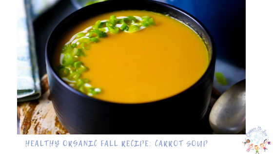 Healthy Organic Fall Recipe: Carrot Soup blog post
