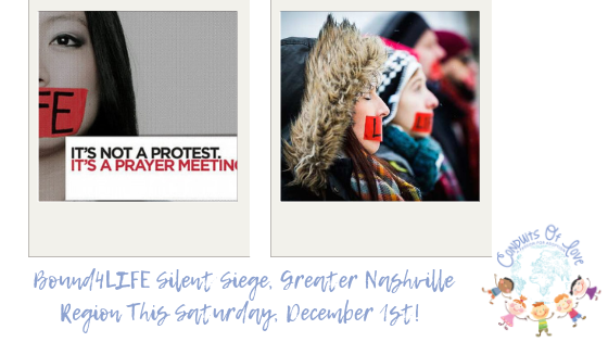Bound4LIFE Silent Siege, Greater Nashville Region This Saturday, December 1st! blog post