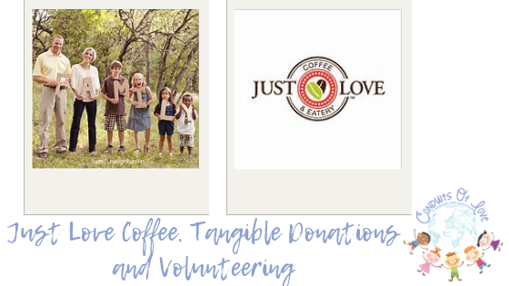 Just Love Coffee, Tangible Donations and Volunteering blog post