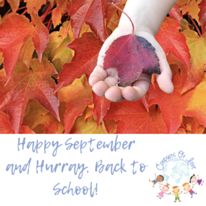 Happy September and Hurray, Back to School! blog
